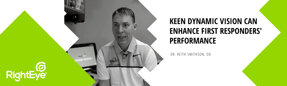 Keen dynamic vision can enhance first responders' performance